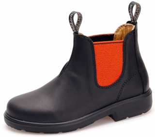 Yabbies Town & Country Chelsea Boots - Black and Orange